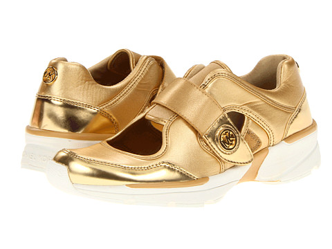 Adidasi Michael Kors - Walker Cut Out Sneaker - Gold Neoprene/Mirror Metallic