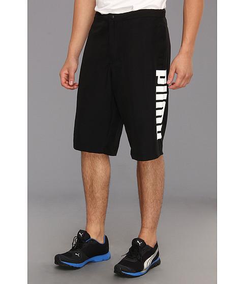 Pantaloni PUMA - Woven Logo Bermuda - Black/White