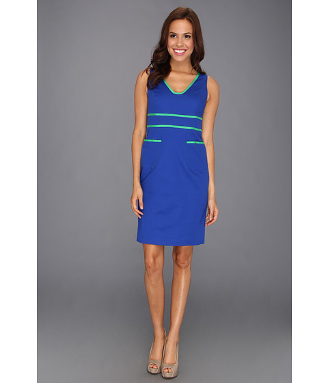 Rochii Anne Klein New York - Contrast Trim Sheath Dress 10390406-120 - Azure