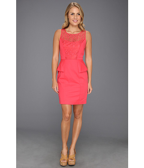Rochii Jessica Simpson - Fitted Tank Peplum Dress - Pink