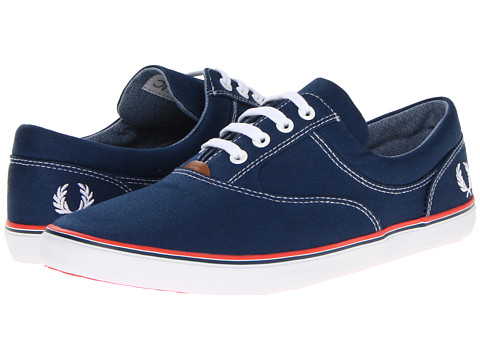 Pantofi Fred Perry - Moffitt Twill - Insignia Blue/White/Tropical Red