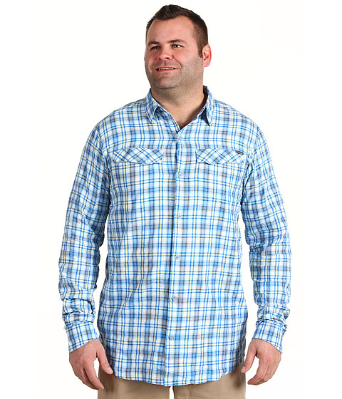 "Camasi Columbia - Big & Tall Silver Ridgeâ""¢ Plaid L/S - Hyper Blue Big Plaid"