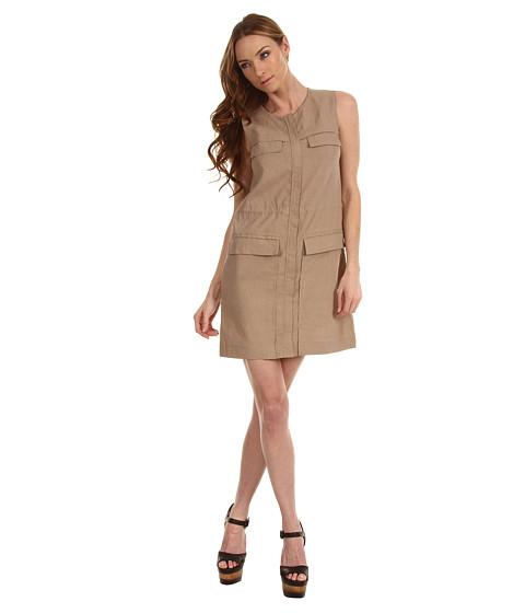 Rochii Theory - Sebiya Crunch Dress - Beige