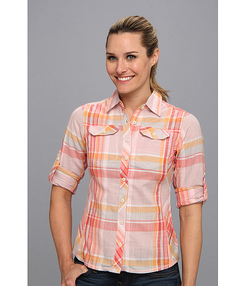 "Camasi Columbia - Camp Henryâ""¢ L/S Shirt - Hot Coral Plaid"