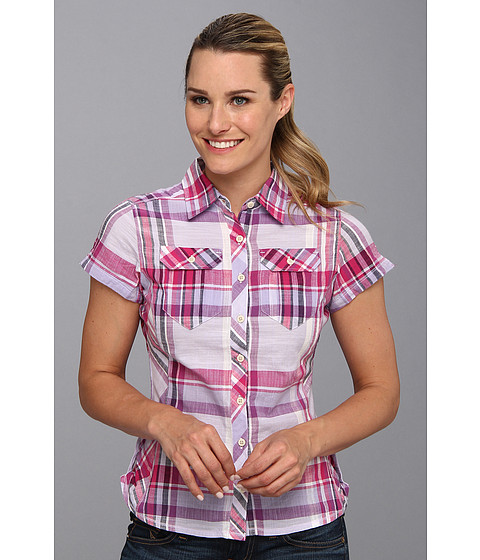 "Camasi Columbia - Camp Henryâ""¢ S/S Shirt - Whitened Violet Plaid"