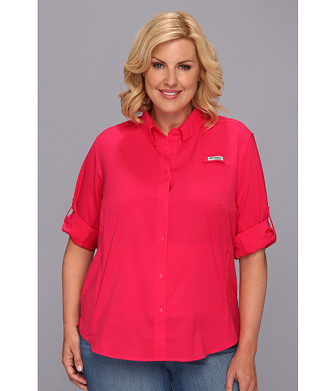 "Camasi Columbia - Plus Size Tamiamiâ""¢ II L/S Shirt - Bright Rose"