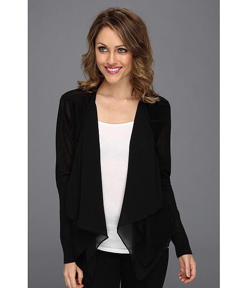 Bluze DKNY - L/S Cozy w/ Double Front Layer - Black