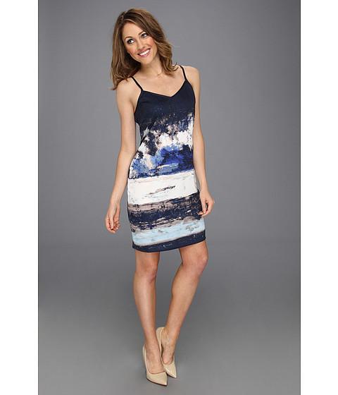 Rochii DKNY - Blue Dawn Print Slip Dress - Tropcal Td