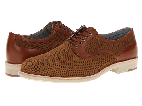 Pantofi Johnston & Murphy - Ellington Perfed Plain Toe - Tan Suede