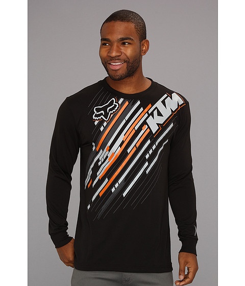 Bluze Fox - KTM Linear Revolution L/S Tech Tee - Black