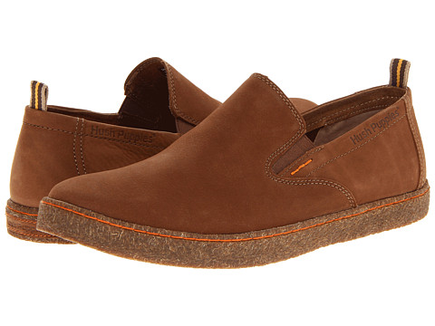 Pantofi Hush Puppies - Lockout Slip On PL - Tan Nubuck