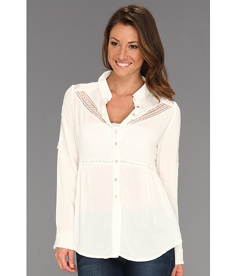 Bluze Free People - Wild Wind Button Up - Ivory