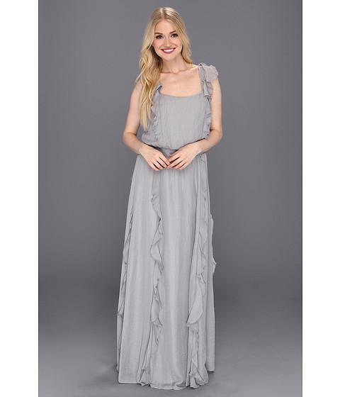 Rochii Jessica Simpson - Smocked Waist Dress with Ruffles - Ash
