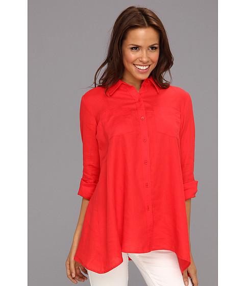 Tricouri Jones New York - A-Line Tab Sleeve Collar Shirt - Poppy Red