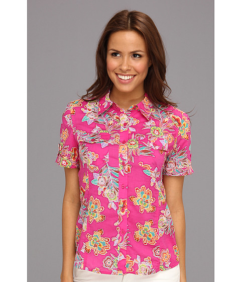 Tricouri Jones New York - Short Sleeve Camp Shirt - Hot Pink Multi