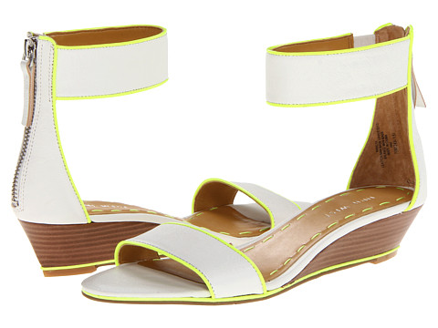 Sandale Nine West - Vilta - White/Lime Leather