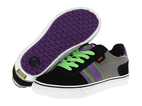 Adidasi DVS Shoe Company - Milan 2 CT (Little Kid/Big Kid) - Black/Grey/Purple Nubuck
