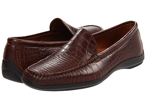 Pantofi Allen-Edmonds - Tampa - Shiny Brown Croc Print