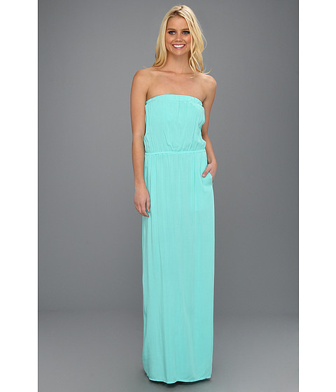 Rochii Splendid - Rayon Voile Strapless Maxi Dress - Waterfall