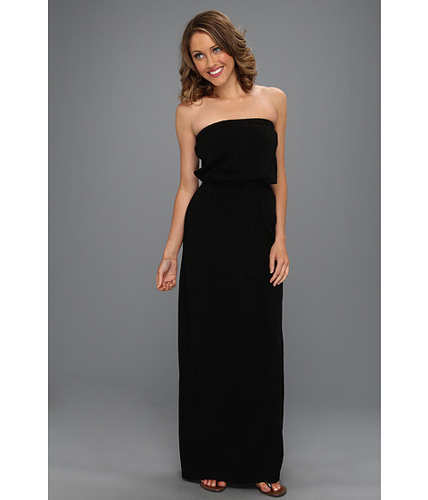 Rochii Splendid - Rayon Voile Strapless Maxi Dress - Black