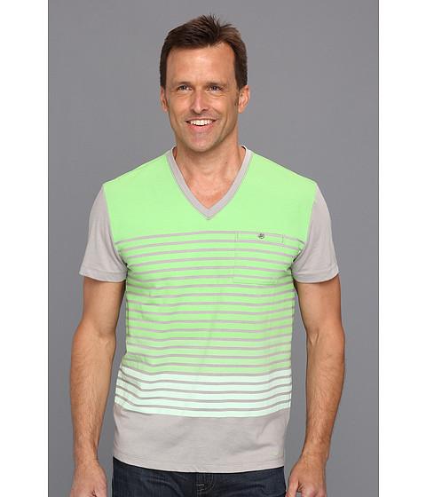 Tricouri Calvin Klein - Array Stripe S/S V-Neck - Fresh Green