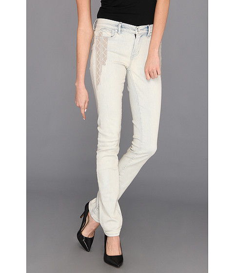 Blugi Calvin Klein - Ultimate Skinny Ankle Roll Jean w/ Embroidery in Light Wash - Light Wash