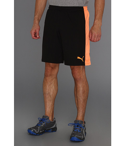Pantaloni PUMA - Spirit Short w/out Inner Slip - Black/Black/Flourescent Orange