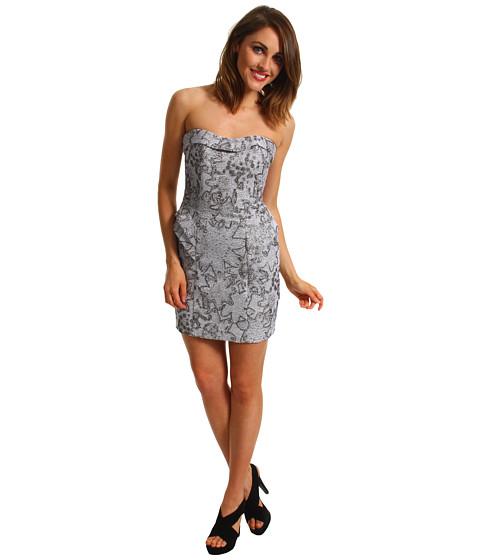 Rochii ABS Allen Schwartz - Strapless Bustier Dress W/Slit - Silver
