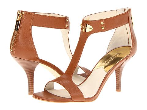 Pantofi Michael Kors - MK Plate Open Toe - Luggage