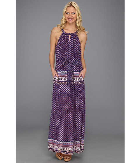 Rochii BCBGMAXAZRIA - Mia Printed Maxi Dress - Dark Regal Combo