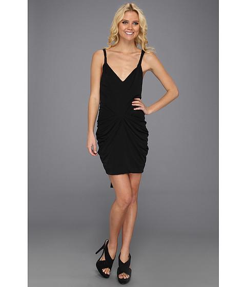 Rochii BCBGMAXAZRIA - Terrianne Deep V-Neck Draped Dress - Black