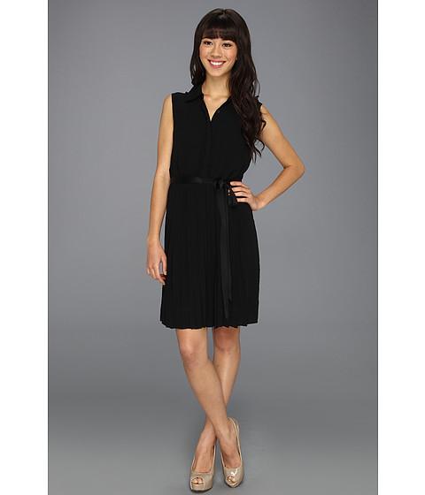 Rochii Jessica Simpson - Sleeveless Collar Dress w/ Tulip Back Bodice - Black