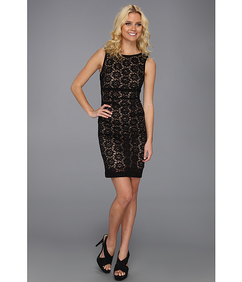 Rochii Nicole Miller - Daisy Lace Fitted Dress - Black/Nude