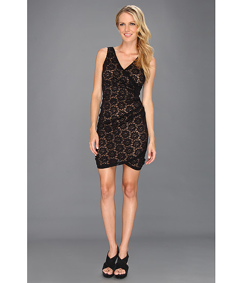 Rochii Nicole Miller - Daisy Lace Fitted Dress - Black/Nude 2