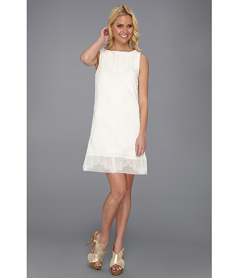 Rochii Nicole Miller - Open Crochet Lace Dress - White