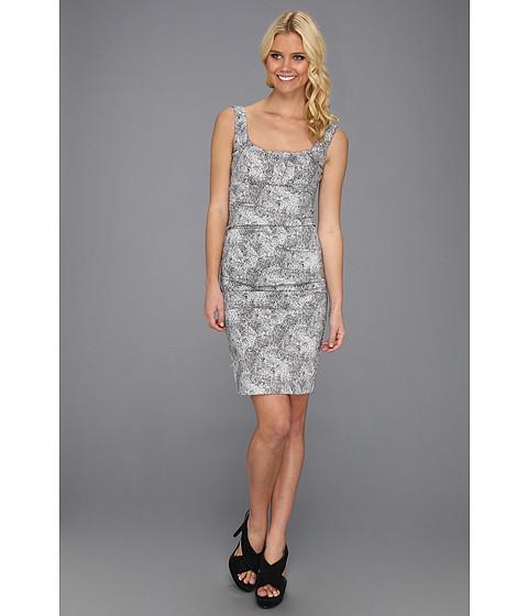 Rochii Nicole Miller - Spotted Leopard Twill Tank Dress - White/Black