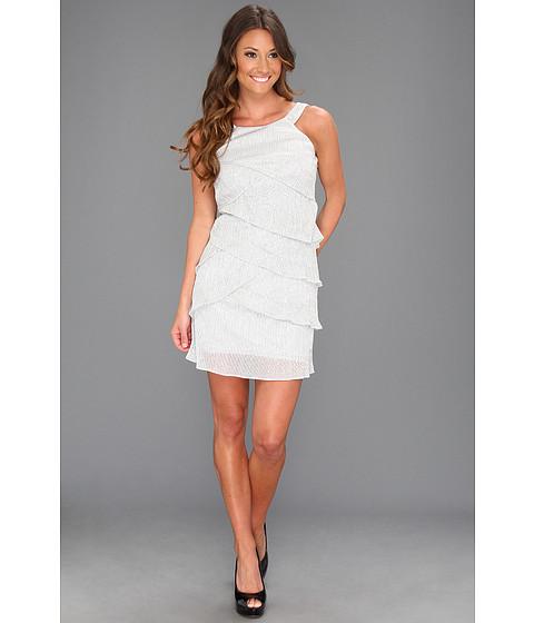 Rochii Laundry by Shelli Segal - Sleeveless Tiered Dress - Silver