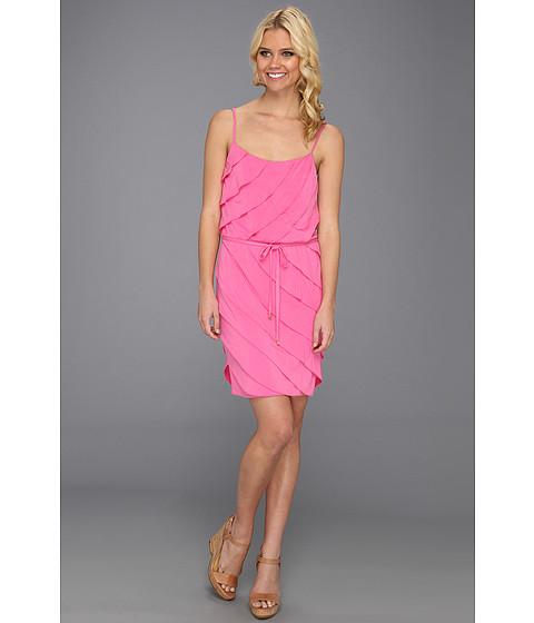 Rochii Laundry by Shelli Segal - Tiered Jersey Dress - Neo Pink