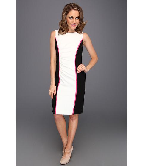 Rochii Calvin Klein - Color Blocked Sheath Dress - Ivory Multi