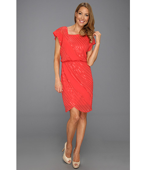 Rochii Vince Camuto - Sequined Asymmetrical Neck Dress - Pink