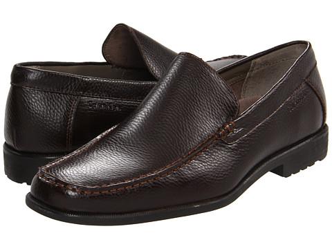 Pantofi Calvin Klein - Kyle - Dark Brown Tumbled Calf