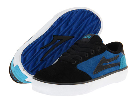 Adidasi Lakai - Pico (Little Kid/Big Kid) - Black/Blue Suede