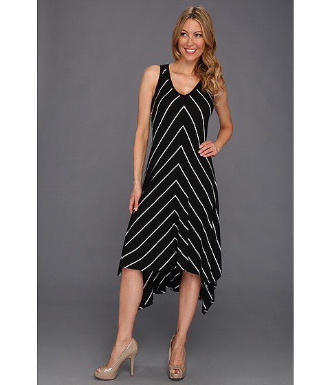 Rochii Karen Kane - Asymmetrical V-Neck Dress - Stripe