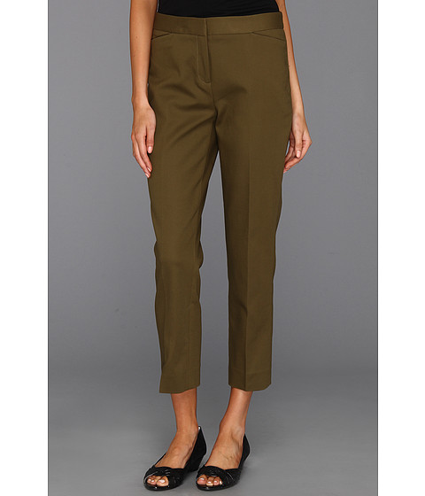 Pantaloni Anne Klein New York - Slim Leg Pant - Dark Olive