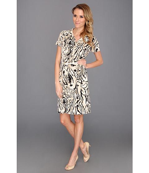 Rochii Anne Klein New York - Moire Print Dress - Oak Multi