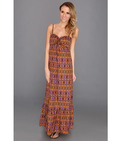 Rochii Anne Klein New York - Paisley Print Maxi Dress - Paprika Multi