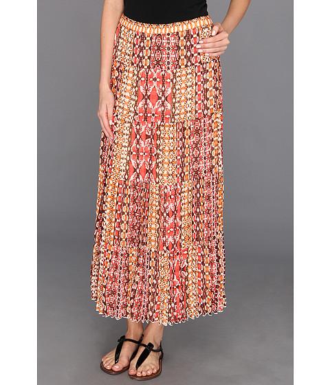 Fuste Jones New York - Printed Tiered Skirt - Apricot Multi