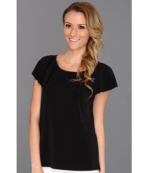 Bluze Anne Klein New York - Flutter Sleeve Top - Black