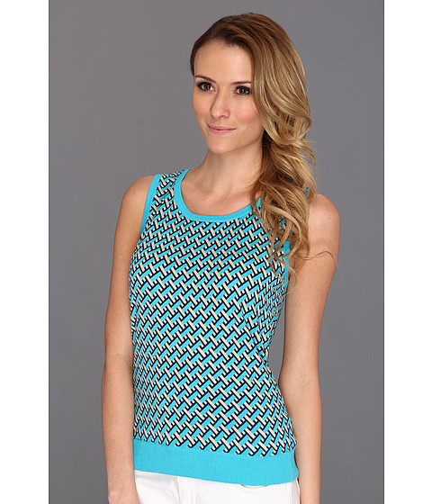 Tricouri Jones New York - S/L Shell with Tipping - Turquoise Multi