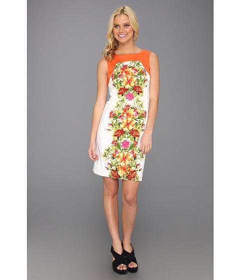 Rochii rsvp - Mindy Floral Dress - Orange/Fuchsia